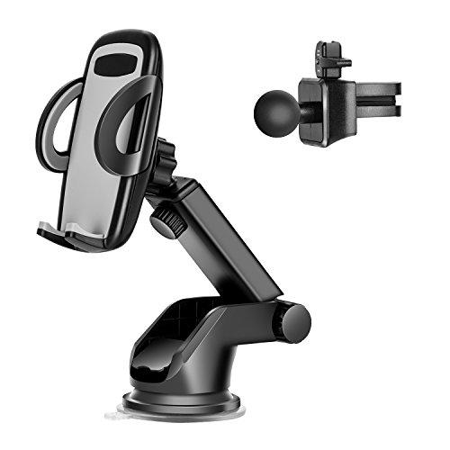 Autohalterung, Patiszon Handy KFZ Halterung Universal Telefon Halter 360 Swivel Cradle für Samsung S7 Edge / S6 Edge / S5 4 3/ A5, IPhone 7 / 6S 6 Plus / SE / 5S / 5C / 5 und andere Smartphone