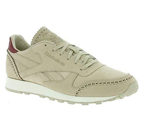 9ec708f35de37 Reebok CL Leather LUX Horween hommes en cuir véritable chaussures Beige  AQ9963