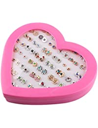 MagiDeal 36 Pair/Lot Assorted Style Crystal Ear Stud Earrings Women Girl Fashion Jewelry