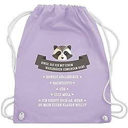 Statement Shirts - Waschbär Gemeinsamkeiten - Unisize - Pastell Lila - WM110 - Turnbeutel & Gym Bag