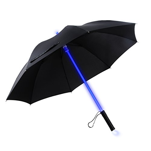 Preisvergleich Produktbild YIER LED Lightsaber Light Up Black Men Umbrella with 7 Color by YIER
