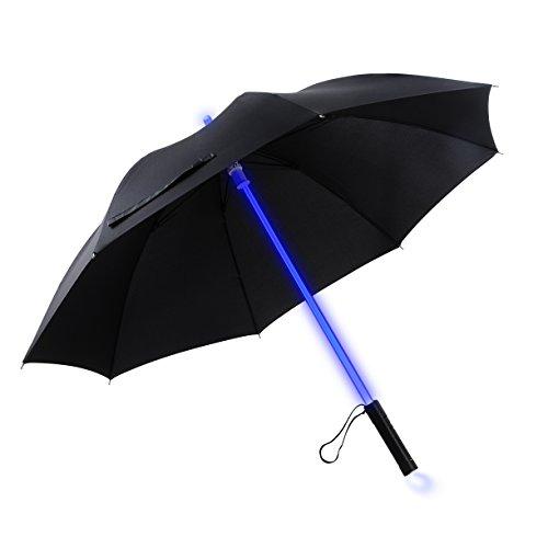 yier Licht LED Lichtschwert bis schwarz Klar Regenschirm mit 7Farbe
