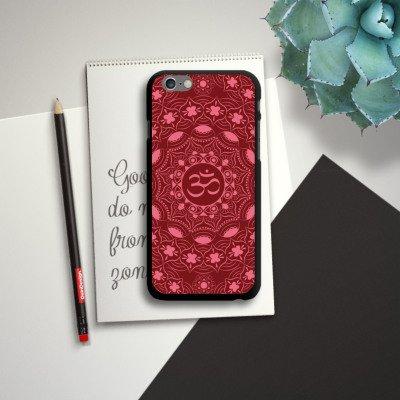 Apple iPhone SE Housse Outdoor Étui militaire Coque Mandala Été Rouge CasDur noir