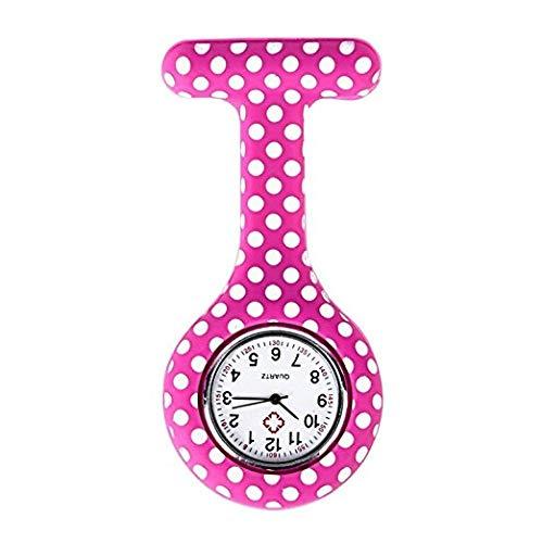 Newin Star Modische Krankenschwester mit Clip des Fobs der Brosche der Silikon-Gesichtssilikon der Uhr Anhänger Tasche für die Frau Die Mädchen rosa Accessoires von Amulett