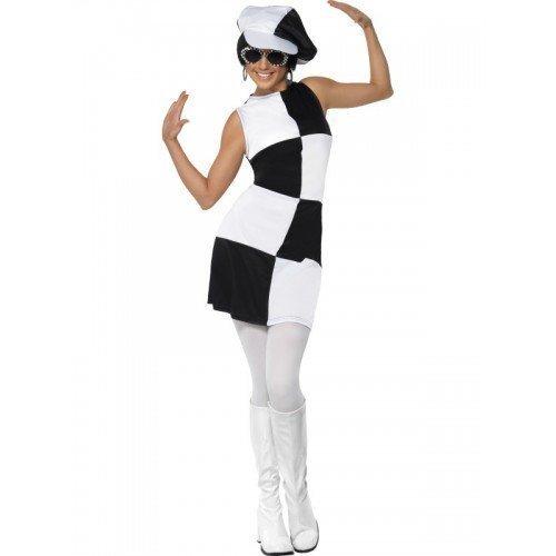 60s Mod Girl (Damen 1960s & Schwarz Weiß Mod Aufschrift