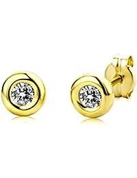Miore - Boucles d'Oreilles Femme - Or Jaune 375/1000 (9 carats) 0.34 gr