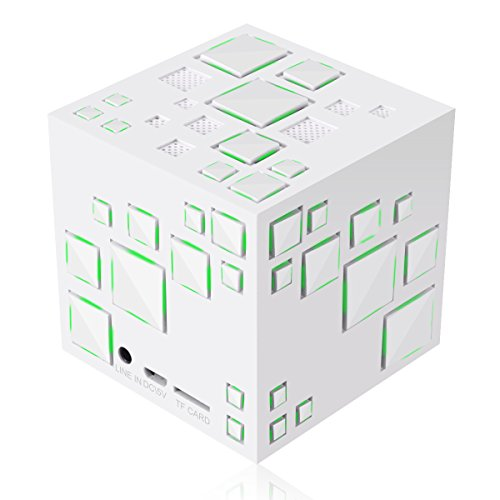 Mini speaker bluetooth, m. way wireless portatile stereo altoparlante cubo di rubik scatole wireless con microfono supporta scheda tf musica palyer fm radio hands free chiamata risposta led luce colorata