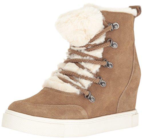 Steve Madden Women's Lift Fashion Sneaker, Tan Multi, 7.5 M US (Madden Sneakers Wedges Steve)