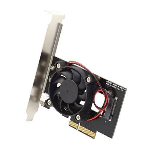 Jser PCI-E 3.0x4Lane Host Adapter Converter carte M Key SSD vers M.2NGFF NVMe PCI Express avec ventilateur de refroidissement