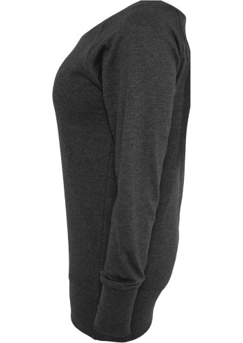Urban Classics TB607 Damen Sweatshirt Ladies Wideneck Crewneck Grau