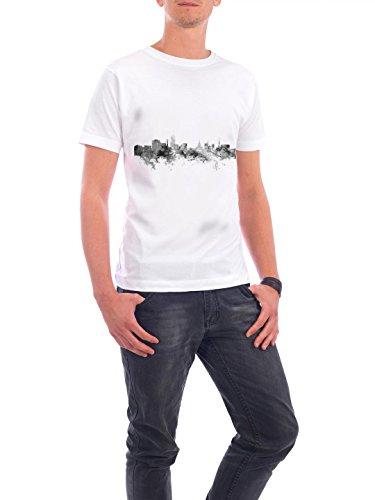 """Design T-Shirt Männer Continental Cotton """"Lansing Michigan"""" - stylisches Shirt Städte Reise Architektur von Michael Tompsett Weiß"""