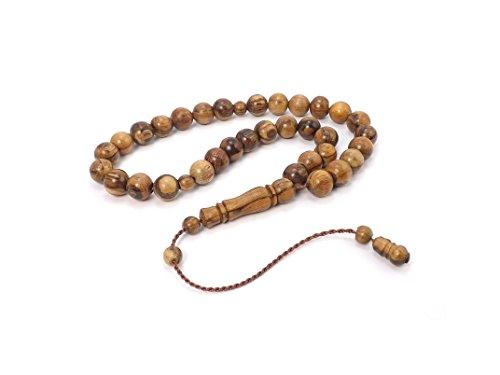 Hochwertige Gebetskette 33 Perlen 'Kuka' Tesbih Tasbih Tespih Misbaha Subha - Braun Holz