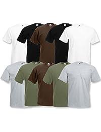 Fruit of the Loom 10 T Shirts Valueweight T Rundhals S M L XL XXL 3XL 4XL 5XL Übergröße Diverse Farbsets auswählbar