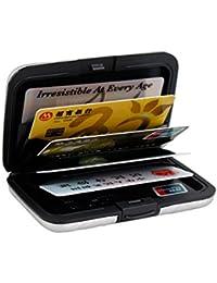 OBO HANDS Cartera de Bloqueo de Aluminio Tarjeta Bancaria de Metal La Tarjeta de Crédito Anti-RFID Scanning Protege la Caja de Tarjeta Múltiple del Color del Sostenedor