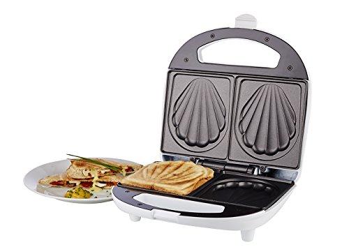 Korona – Sandwichmaker  47017 I Muschelförmig I 700 W I Weiß