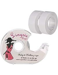falllea Cinta Adhesiva de Lencería Invisible Transparente Adhesivo de Doble Cara la Cinta para el Vestido de la Ropa Adhesivo Cinta de Seguridad para Mujeres