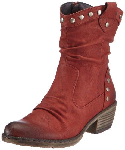 Rieker Damen 93785-35 Cowboy Stiefel, Rot (Burgund / 35) 36 EU