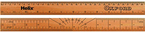 Helix Oxford 30cm Wooden Ruler