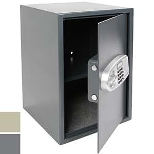 coffre fort serrure lectronique anthracite avec 2 cl s de s curit 50 x 35 x 31 cm. Black Bedroom Furniture Sets. Home Design Ideas