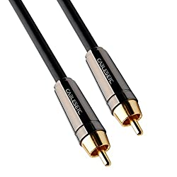 CABLESETC Pro Series 1 RCA Male to 1 RCA Male Digital S/PDIF Coaxial Cable 1.8 meters ( 6 feet )