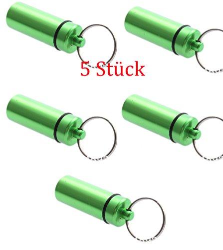 5X PORTAPILLOLE Verde, micno S (micro nano) pillola Conservazione compressa deposito di Geo della Spedizione-Verde Cinque Pezzi Geocaching Micro Nano