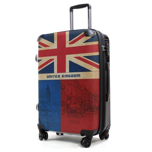 Hauptstadtkoffer® STYLE - Valise Rigide - 57 l. - COQUE FRONTALE TRANSPARENTE - DESSIN INTERCHANGEABLE - Serrure TSA (Angleterre)