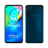 "Motorola Moto G8 Power Smartphone, Batteria 5000 mAh, Display MaxVision FHD+ 6.4"", Quad Camera 16MP, Processore Octa-Core, Dual SIM, Dual Stereo Dolby, 4/64 GB espandibile, Android 10, Capri Blue"