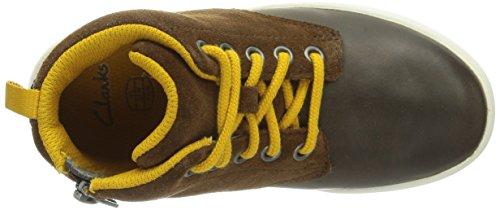 Clarks  Holbay Hi, Baskets pour garçon Marron - Braun (Brown Leather)