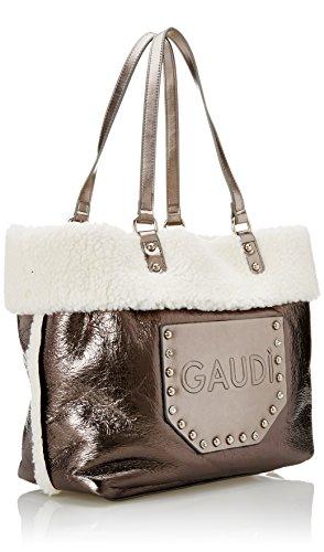 Gaudì Shopping Linea Belle, Borsa a Mano Donna, 33 x 31 x 14 cm (W x H x L) Grigio (Gun)