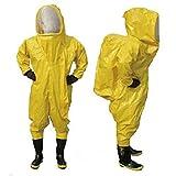 Schwere Typ vollständig geschlossener chemischen Schutzanzug gelb mit Atemschutzmaske Tasche (XXL)