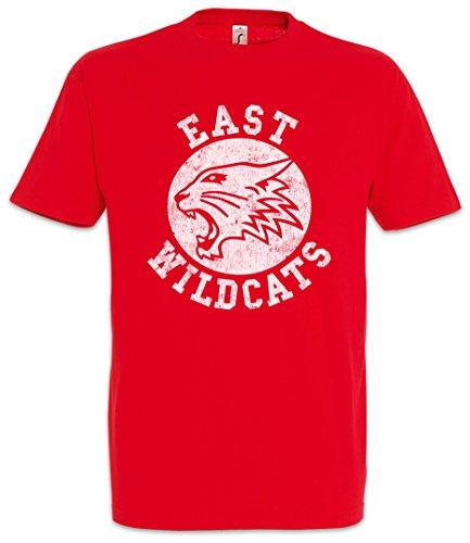 Urban Backwoods East Wildcats Herren T-Shirt Rot Größe (Cats Musical Kostüm Machen)
