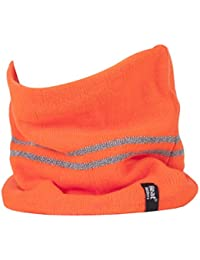 Heat Holders - Mens Hi Vis Reflective Winter Warm Thermal Fleece Lined Knitted High Visibility Neck Warmer