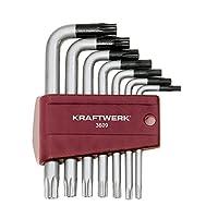Kraftwerk 3609-Set de 9 clés mâles Poignée segur. T10 à T50-TX