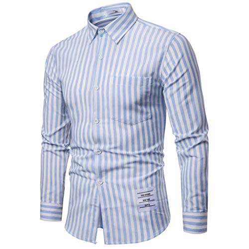 Realde Herren Hemd Slim Fit Gestreift Langarmhemd T-Shirt Business Striped Twoface + Python II Trachtenhemd Bügelleicht Männer Freizeit Sport Bequem Atmungsaktiv Viele S-XXL -