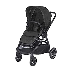 Maxi-Cosi Adorra Baby Pushchair, Comfortable and Lightweight Stroller with Huge Shopping Basket, Suitable from Birth, 0 Months - 3.5 Years, 0-15 kg, Nomad Black   8