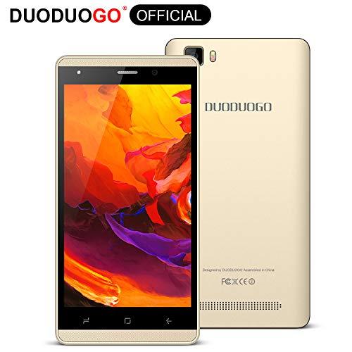 Cellulari offerte 4G DUODUOGO J3+ Prezzi 5 Pollici 16GB-Fino a 32 GB 1GB RAM Smartphone Offerta Del Giorno Android 7.0 Quad Core Doppia Fotocamera 2800mAh Batteria Due SIM Bluetooth WLAN (Oro)