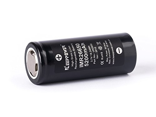 Keeppower IMR26650 - Li-Ionen 3,6V 5200mAh