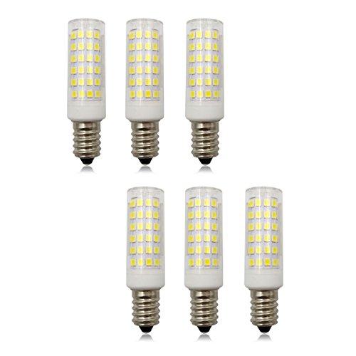 E14 SES Dimmbare LED 9W Kleine Edison-Schraube Kerze Glühbirne, 220V-240V AC, Aquivalent zu 80W Halogenlampe (Kaltweiß 6500K, 6er Pack) - 9w-6500k Glühbirne