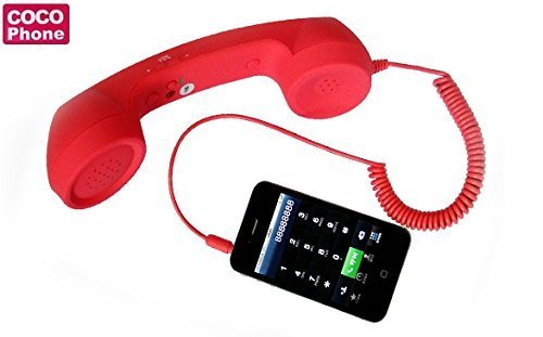 Anti-radiation Retro Style Handset COCO Phone with HD speaker and microphone [ Red ] -- ByBox™