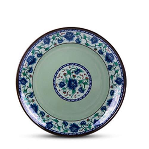 Kschen Melamin Nachahmung Porzellan Plastikschale Flache Schale Flache Platte Grüne Platte 15Cm