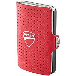 I-CLIP Ducati Cartera Delgada Tarjetero Pequeño para Tarjetas de Crédito y Billetes (Rojo)