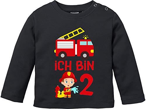 EZYshirt® Kinder Feuerwehrauto 2. Geburtstag Jungen T-Shirt Baby Langarm Bio - X Bemessungs Kostüm