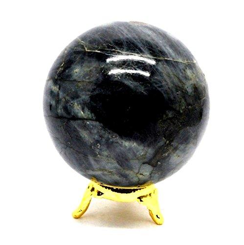 Healing Crystals India® Regenbogen-Kristall-Kugel für spirituelle Reisen, poliert, 40-50 mm, inklusive eBook über Kristallheilung von Abhishek Pandit preisvergleich