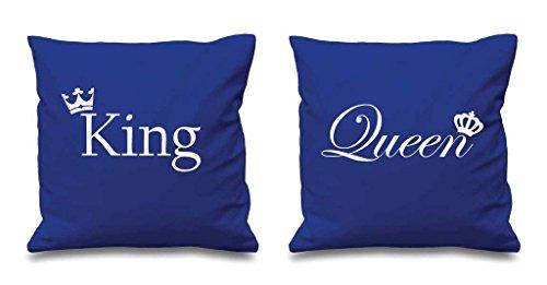 Re e la regina corona blu cuscino