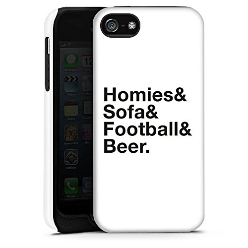 Apple iPhone X Silikon Hülle Case Schutzhülle Fußball Bier Luxus Tough Case matt