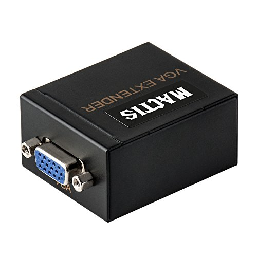 VGA Extender, MACTIS® Amplificatore Splitter Video VGA via Cat5e/6 Cavo Ethernet con Supporto Audio fino a 60m (197ft/60m, Transmitter o Receiver)