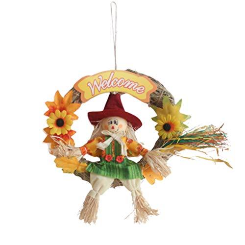 e Kranz hängen Vogelscheuche Ornament Vogelscheuche Girlande Halloween Thanksgiving Dekor Herbst Herbst Ernte Dekoration für Party Schule Home Bar Garten (klein/weiblich) ()
