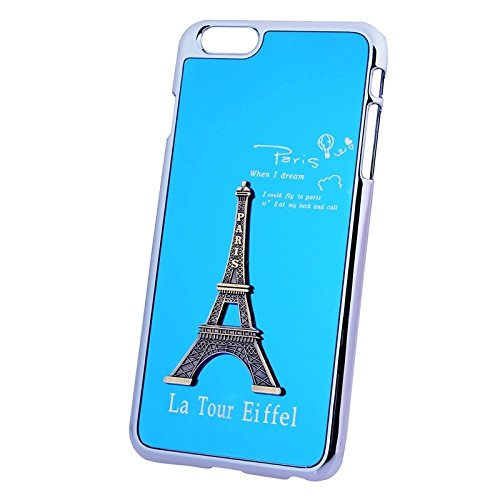 Pour IPhone 6 Plus / 6S Plus 3D Metal Tower Décoration Placage Skinning Hard Case JING ( Color : Purple ) Blue