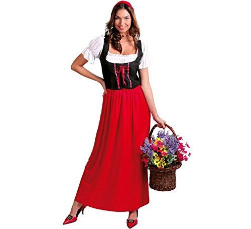 wirtin baeuerin Medioevo karnevals castani Costume per donna Cappuccetto Rosso schenke Locanda Taglia M/XL