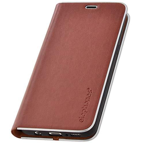 elephones® Handyhülle für Samsung Galaxy S8 Hülle - Kompatibel mit Galaxy S8 Handy-Tasche Schutzhülle Flip Case Braun Schutzhülle Flip Case